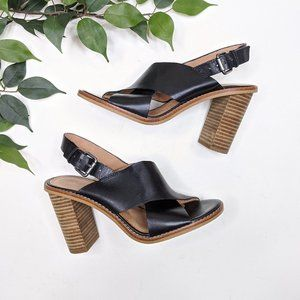 Madewell The Ruthie Crisscross Sandal Heel